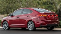 Hyundai Accent 2018 года, вид сзади