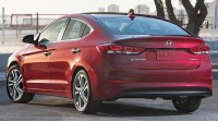 Hyundai Elantra VI, вид сзади