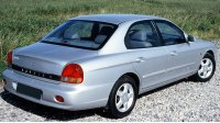 Hyundai Sonata IV, вид сзади