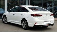Hyundai Sonata VII, вид сзади
